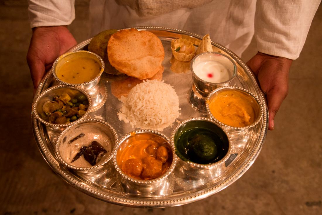 Thali dinner at Amrit Rao Peshwa Palace